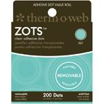 Therm O Web Zots™ Removable Clear Adhesive Boxed Dots; Color: Clear; Material: Glue; Shape: Round; (model TW3791), price per box