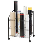"Alvin® Wire Bin Roll File 12 Slots; Capacity: 12 Slots; Color: Black/Gray; Material: Steel; Size: 18""d x 24""w x 30""h; (model WRF55), price per each"