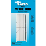 X-Acto® Metal Mitre Box Set: Box, (model X-75330), price per each