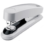 "Dahle B4 Compact Flat Clinch Executive Stapler: Grey, 2 3/8"" Throat Depth"