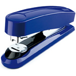 "Dahle B4 Compact Flat Clinch Executive Stapler: Blue, 2 3/8"" Throat Depth"