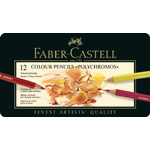 Faber Castell Polychromos Artists Colour Pencil: Tin of 12