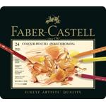 Faber Castell Polychromos Artists Colour Pencil: Tin of 24
