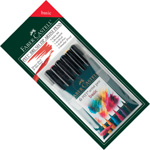 "Faber-Castell PITT Artist Pen ""Basic"" Color: Wallet of 6 pens"