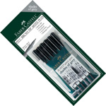 "Faber-Castell PITT Artist Pen ""Shades Of Grey"" Color: Wallet of 6 pens"