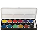 Finetec Opaque Watercolor Paint 12-Color Set With Metal Lid; Color: Multi; Format: Pan; Type: Watercolor; (model LO12), price per set