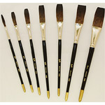 Mack Soft Stroke Lettering Brush Series 1992: #3/8, Hair Length 1-1/2""