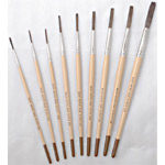 """Mack Lettering Quills Series 2179: Length Out (trim) 1-1/8"""", Size-6"""