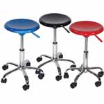 Artisan Airlift Desk Height Stool: Red