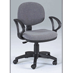 Martin Stanford Desk Height Seating Chair: Gray