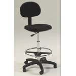 Martin Stiletto Drafting Height Seating Chair: Black