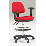 Marting Feng Shui Drafting Height Chair: Black