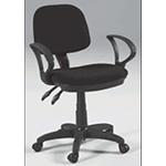 Martin Vesuvio Drafting Height Seating Chair: Black