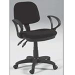 Martin Vesuvio Desk Height Seating Chair: Black
