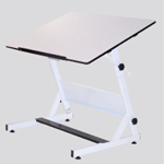 "MXZ Drawing Table White Base with 31.5"" x 48"" White Top: Model # U-DS5000WD"