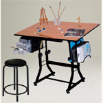 Martin Ashley Black Creative Hobby Table with Stool