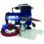 Paasche BTS-1S Starter Tattoo Set with D100 Air Compressor (1/8 hp.)