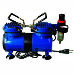 Paasche Model DA400R Air Compressor (1/6 hp.) with Auto Shutoff & Regulator