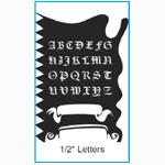 "Paasche ST-13 Tattoo Stencil: 6"" x 8-1/4"", Letter Template"