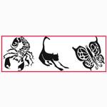 "Paasche ST-1 Tattoo Stencil: 3"" x 10"""