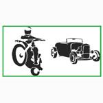 "Paasche ST-4 Tattoo Stencil: 3"" X 10"", Motorcycle & Car"