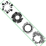 "Paasche ST-10 Tattoo Stencil: 6"" x 7-1/4"", Tribal Arm Band"