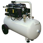 Silentaire Sil-Air 100-50 Silent Running Airbrush Compressor: Oil Lubricated