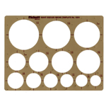"Pickett® Circles Template: 1 1/2"" - 3 1/2"", (model 1201I), price per each"