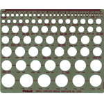 "Pickett® Small Circles Template: 1/32"" - 1 1/4"", (model 1203I), price per each"