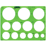 Rapidesign® Metric Extra Large Circle Template; Scale: 25 mm - 85 mm; (model 2440R), price per each