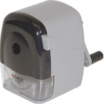 Dahle® Wood Case Pencil Sharpener; Color: Black/Gray; Holes: Six; Material: Wood; Type: Manual; (model D133), price per each