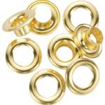 "General® Grommet Kit Refills: Metallic, Steel, Round, 3/8"", (model G1261-2), price per pack"