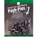 "Moore 1/2"" Push-Pins 20-Pack; Size: 1/2""; (model M4-20), price per pack"