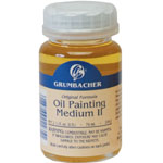 Grumbacher® Slow Drying Oil Painting Medium II; Format: Bottle; Size: 2.5 oz; Type: Oil; (model GB5762), price per each