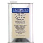 Grumbacher® Pre-Tested® Odorless Paint Thinner 32oz: Can, 32 oz, Solvents, (model GB56532), price per each