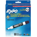 Expo® Dry-Erase Broad-Tip Marker 8-Color Set; Color: Multi; Tip Type: Chisel Nib; (model SN838-SET), price per set