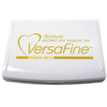 VersaFine™ Fast-Drying Pigment Ink Full Size Pad Spanish Moss; Color: Green, Yellow; Format: Pad; Ink Type: Pigment; Shape: Full Size Rectangle; (model VF062), price per each