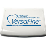 VersaFine™ Fast-Drying Pigment Ink Full Size Pad Deep Lagoon; Color: Blue; Format: Pad; Ink Type: Pigment; Shape: Full Size Rectangle; (model VF019), price per each