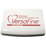 VersaFine™ Fast-Drying Pigment Ink Full Size Pad Crimson Red; Color: Red/Pink; Format: Pad; Ink Type: Pigment; Shape: Full Size Rectangle; (model VF011), price per each