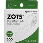 Therm O Web Zots™ Clear Adhesive Boxed Dots Medium; Color: Clear; Material: Glue; Shape: Round; (model TW3784), price per box