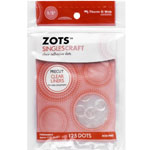 Therm O Web Zots™ Single Adhesive Dots 3-D; Color: Clear; Material: Glue; Shape: Round; (model TW3692), price per pack