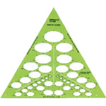 "Alvin® Isometric Ellipses Template; Scale: 1/8"" - 1 3/4""; (model TD868), price per each"
