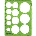 "Alvin® Jumbo Circle Guide Template: 1 1/4"" - 3 1/2"", (model TD495), price per each"