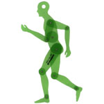 "Alvin® Human Figure 13.75"" Template: 1:5, (model TD1735A), price per each"