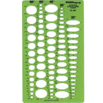 "Alvin® Even Ellipse Master Template: 1/4"" - 1 1/2"", (model TD1267), price per each"