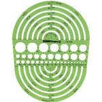 "Alvin® Circle Radius Master Template: 3/64"" - 7 1/2"", (model TD1202), price per each"