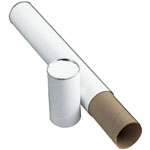 "Alvin® White Fiberboard Tube 3"" I.D. x 43; Color: White/Ivory; Material: Fiberboard; Size: 3"" x 43""; (model T417-43), price per each"