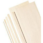 "Alvin® 6"" Bass Wood Sheets 1/8""; Format: Sheet; Quantity: 5 Sheets; Size: 6"" x 24""; Thickness: 1/8""; (model WS3266), price per 5 Sheets"