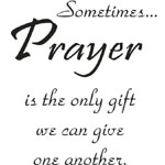 Sarasota Stamps Mounted Rubber Stamp Sometimes Prayer ; Material: Rubber; Mounted: Yes; (model SSD-1017), price per each