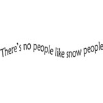 Sarasota Stamps Mounted Rubber Stamp No People Like Snow People; Material: Rubber; Mounted: Yes; (model SSC-3414), price per each
